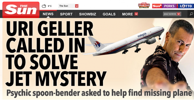 Screen shot 2014 03 14 at 22.37.44 Malaysia Airlines Flight MH370: Stolen By Pirates And Other Batshit Mental Theories In The British Tabloids