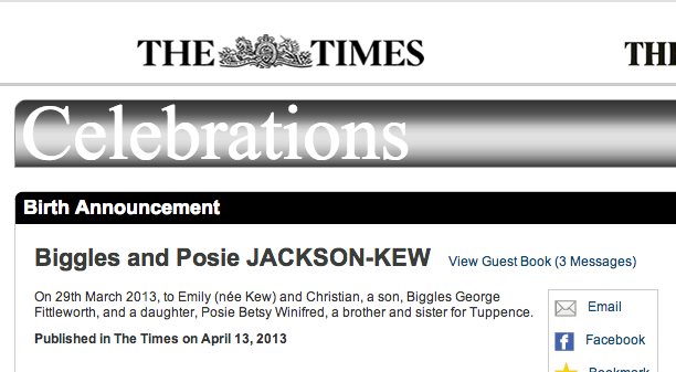 Screen shot 2014 03 28 at 20.02.14 Other Parents Kids With Stupid Names: Biggles, Posie and Tuppence JACKSON KEW