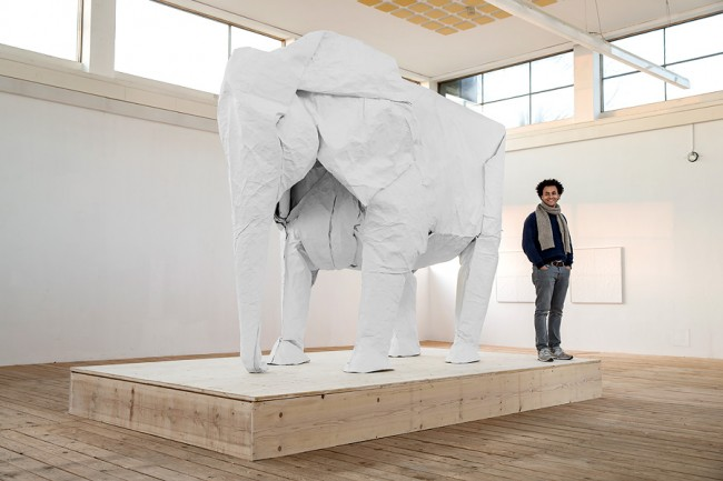 Sipho Mabona Watch Artist Sipho Mabona Make A Full Size Elephant By Folding One Piece Of Paper