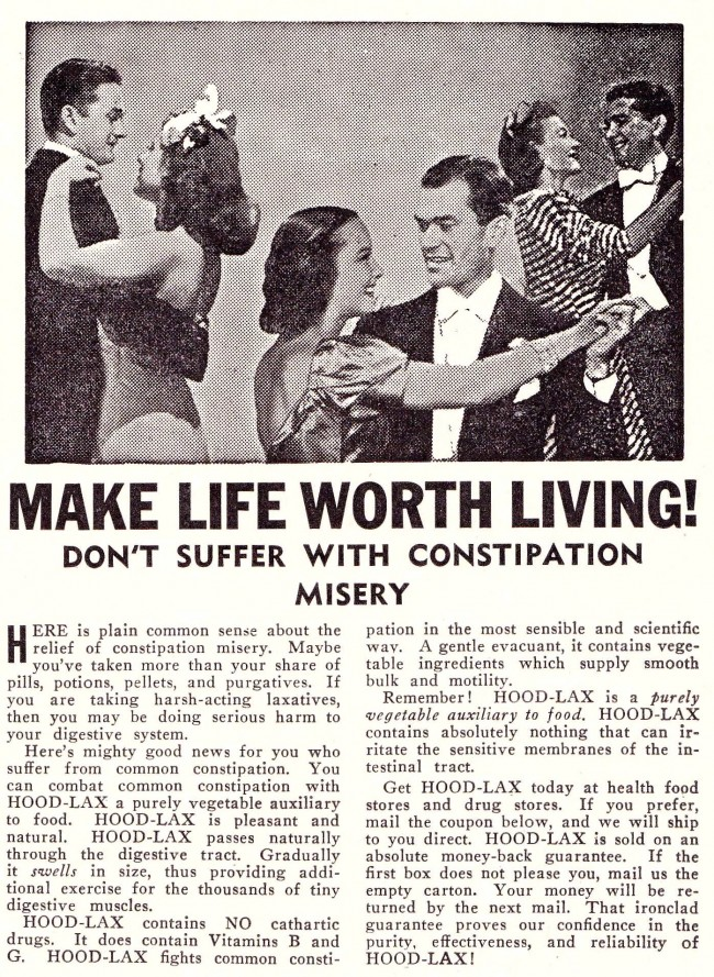 Successful Living Nov Dec 1942 page 043 The Miracle of Soap And The Scourge of Constipation: Vintage Hygiene Adverts
