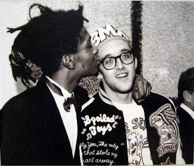 Keith Haring and Basquiat at Dencerateria