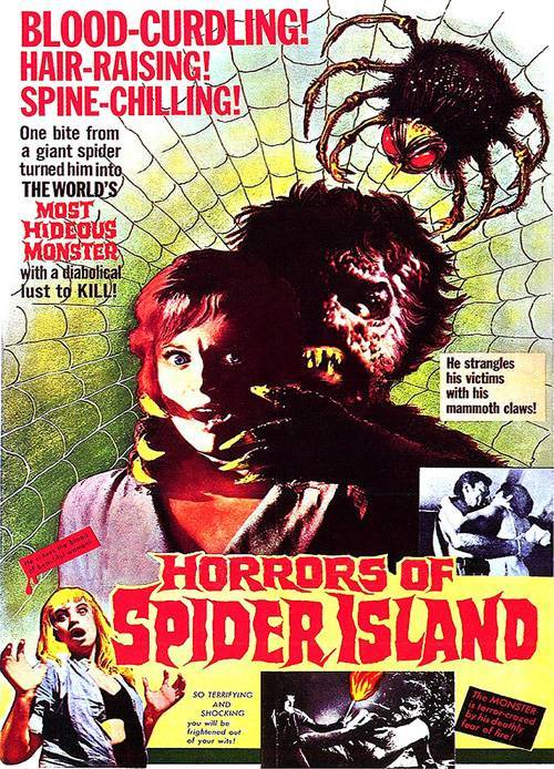 horrors of spider island poster 01 Exploring the IMDb Bottom 100: The Worst of The 1960s
