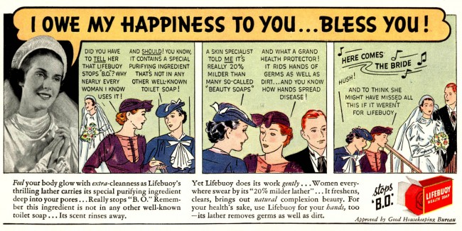 lifebuoy 1937 The Miracle of Soap And The Scourge of Constipation: Vintage Hygiene Adverts