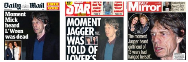 mick jagger death moment