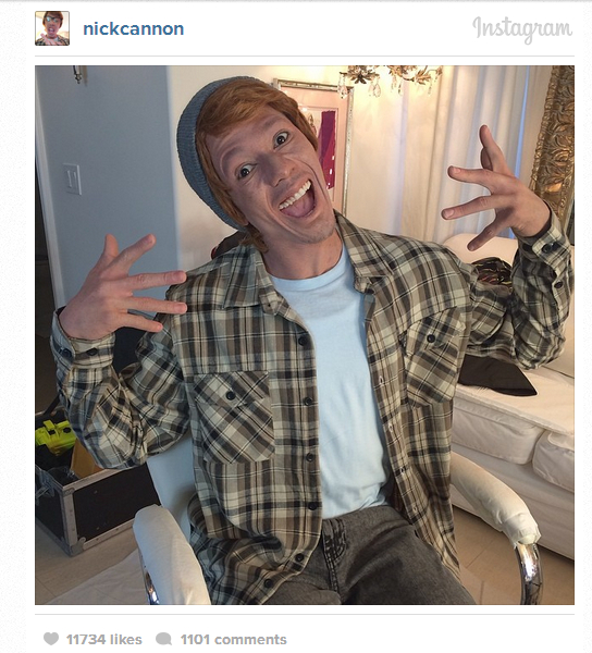 nick cannon white face