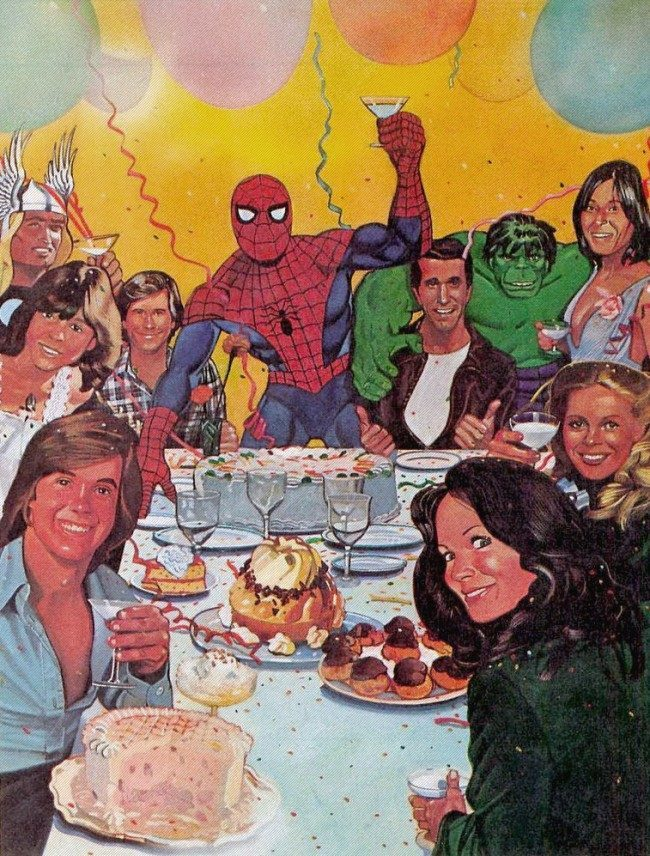1978 Spidey's Celebrity Party  1978: Spidermans Celebrity Party (Can You Name All The Guests?)