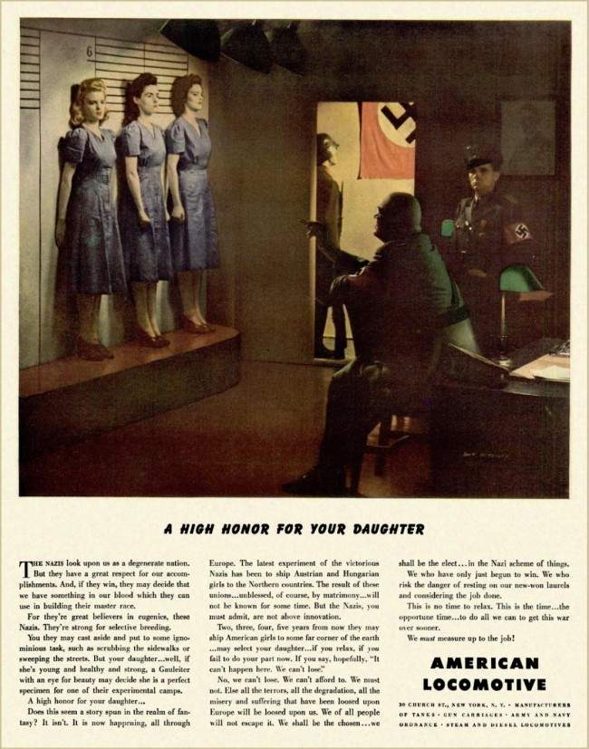 American Locomotive Advert 1943 1943: Bizarre American Locomotive Company Advert