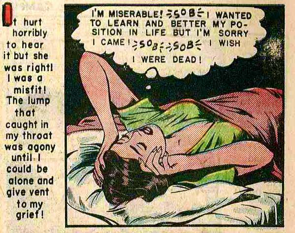 Campus Loves 2 29 Tormented And Alone: The Neurotic Dreams Of The Ladies Of Romance Comics