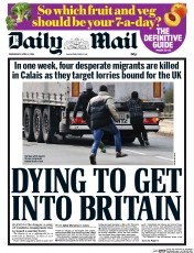 Daily Mail 2 4 2014 Daily Express Says An Area Five Times The Size Of Manchester Will Drown In Migrants