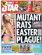Daily Star 16 4 2014 Daily Star Front Page: Mutant Rats In Your Kebab