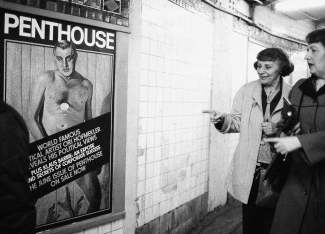 PA 10073882 1 1984: New York Subway Commuters Giggle At Nude Walter Mondale On A Penthouse Magazine Cover