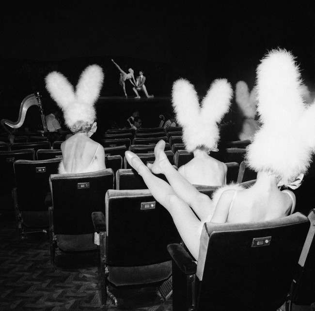 PA 10161004 1966: Bunny Eared Rockettes Rehearse The Easter Show at New York's Radio City Music Hall