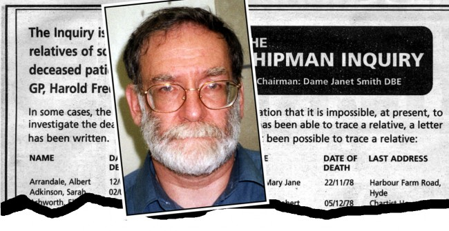 An advertisement that has been published in two national and three local papers in an attempt to trace the relatives of more than 80 former patients of serial killer Harold Shipman. An inquiry, chaired by High Court judge Dame Janet Smith, is investigating the deaths. * of at least 466 patients of the former GP from Hyde, Greater Manchester, who is now serving life for the murders of 15 women patients.