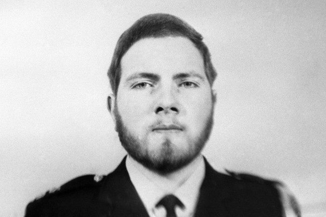 "A Scotland Yard picture of Police Constable Michael Hills, a 22-year-old bachelor living at Croydon, Surrey, who was on duty outside St James's Palace when he heard a gun fire. He was wounded in the chest as he approached gunman Ian Ball and collapsed after using his personal radio to report: ""I have been shot"". PC Hills joined the Metropolitan Police 'A' Division at Cannon Row last may, straight from training school. 923-Archive-pa165834-22 Ref #: PA.19319705  Date: 21/03/1974"