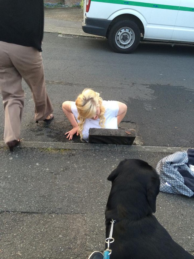 PA 19466960 Kent Teenager Ella Birchenough Gets Stuck In A Drain Trying To Retrieve Her iPhone (Photos)