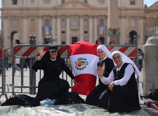 A group of nuns from Peru