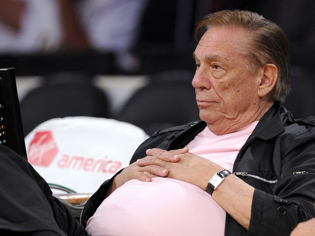 Los Angeles Clippers team owner Donald Sterling watches his team play in Los Angeles.