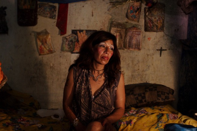 A prostitute from El Salvador who identifies herself as Vilma