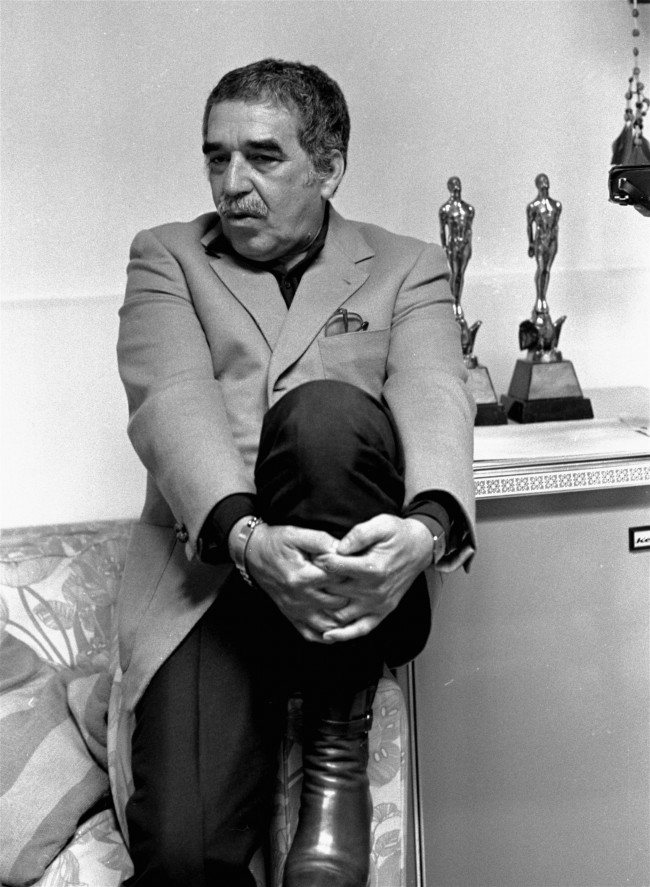 Gabriel Garcia Marquez, Nobel Prize winner for Literature, interviewed at his home, October 21, 1982.(AP Photo).