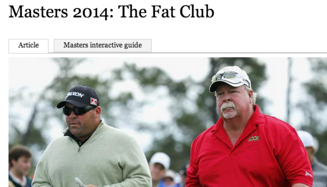 Screen shot 2014 04 10 at 10.41.07 The Times Thinks Its OK To Call Male Golfers Fat: Is It Different For Girls?