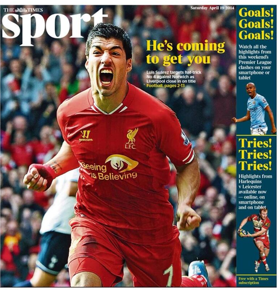 Screen shot 2014 04 19 at 07.56.58 Liverpool Balls: Threatening Luis Suarez Puts Bite Into The PFA
