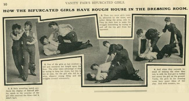 bifurcated girls 2 1903: Girlie Mag Vanity Fair Profiles The Bifurcated Girls: Gay Girls In Trousers