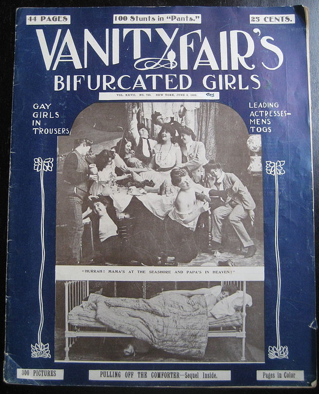 bifurcated girls 1903: Girlie Mag Vanity Fair Profiles The Bifurcated Girls: Gay Girls In Trousers