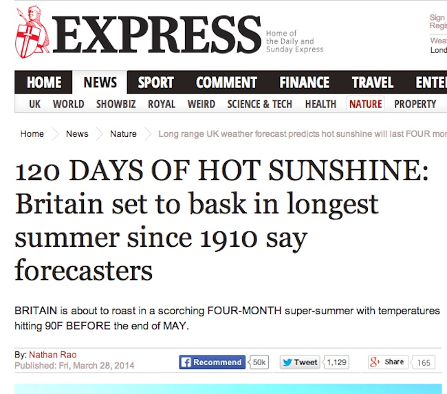daily express 2 Daily Express Weather Watch: Predicting A Glorious Summer Apocalypse