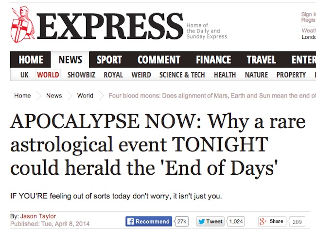 daily express 5 Daily Express Weather Watch: Predicting A Glorious Summer Apocalypse