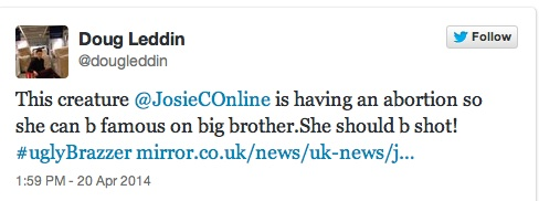 josie cunningham 10 Josie Cunningham Wants Stabbing, Punching And Shooting, Says The Righteous Twitter Mob