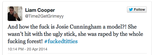 josie cunningham 12 Josie Cunningham Wants Stabbing, Punching And Shooting, Says The Righteous Twitter Mob