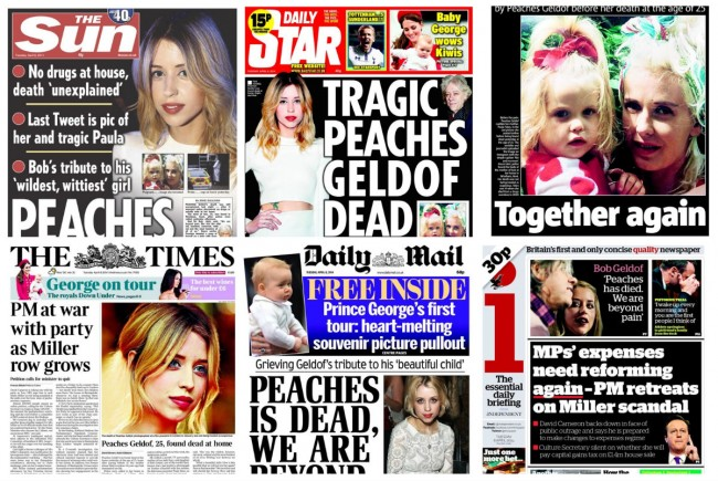 peaches geldof dead Peaches Geldof: An Untimely Death Was Her Tabloid Destiny