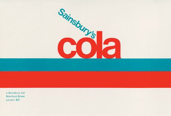 Sainsbury's Own Label Cola label, 1966