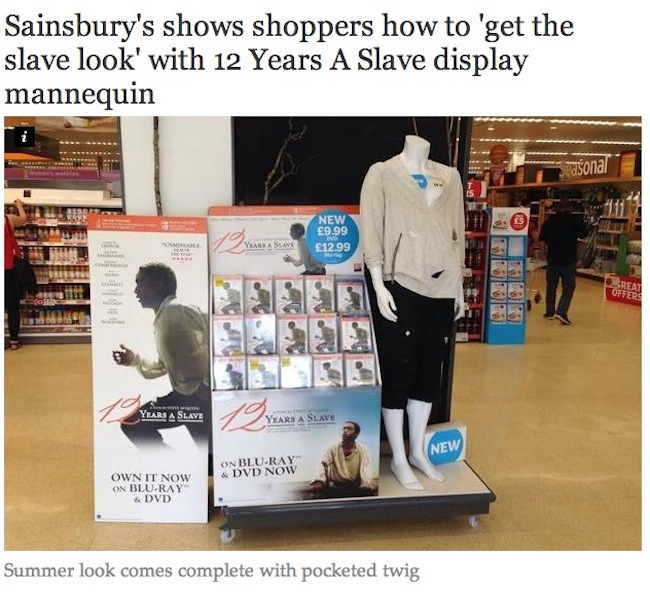 12 years a slave costume Sainsburys Offers Shoppers A Chance To Buy The 12 Years A Slave Look