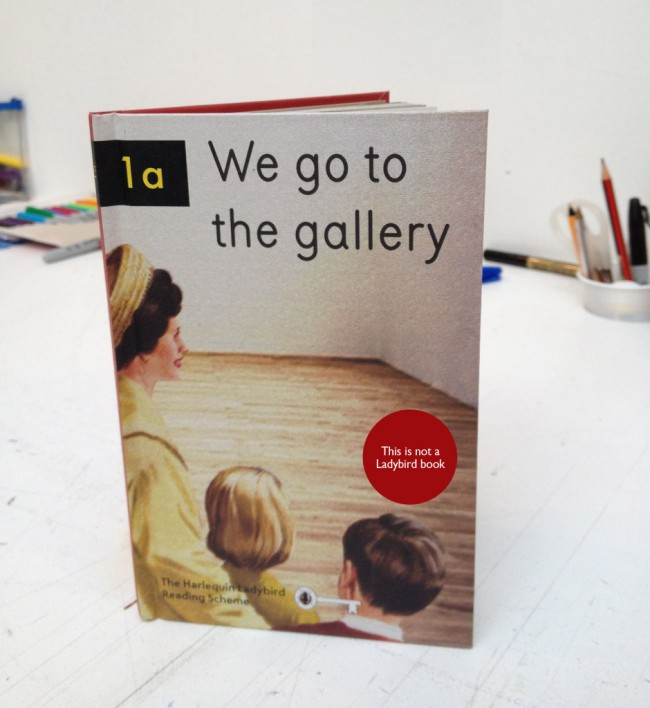 Miriam Elia cover We Go To The Gallery: Enjoy  Miriam Elias Twisted Spoof On The Peter & Jane Books