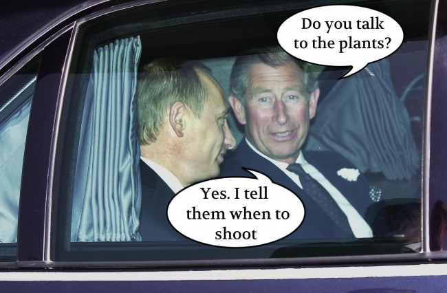 PA 19887374 Prince Charles Know His History: Vladimir Putin Is Doing A Hitler