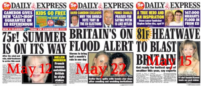 daily express weather Daily Star And Express Weather Watch: The Wettest Six Week Heatwave On Record