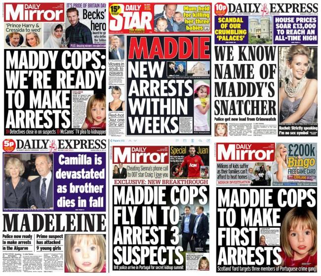 maddie arrests