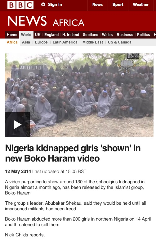 nick childs Nominative Determinism: Nick Childs Reports For BBC On The Nigerian Schoolgirl Kidnappings