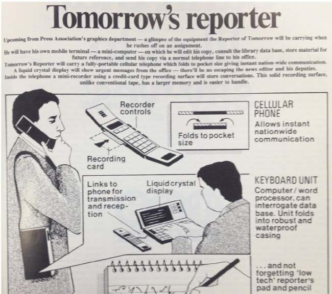 tomorrows reporter In 1985 The Press Association Presented The Future of Journalism