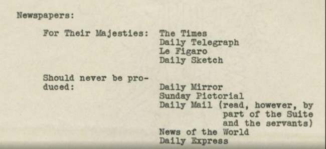 1939 memo newspapers1 A Telling Memo On British Newspapers For King George VIs 1939 Visit To The USA