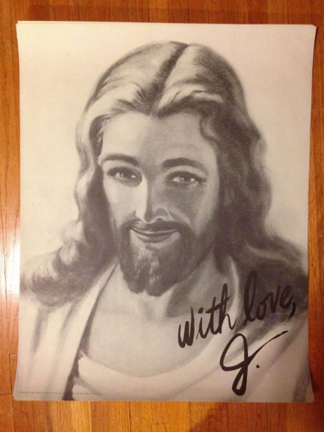 Jesus signed photo