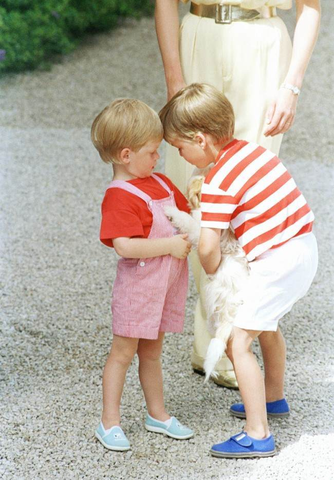 PA 10201024 King Juan Carlos Hosts Diana, Charles And the Young Princes Harry and William In Majorca 1988 (9 Photos)