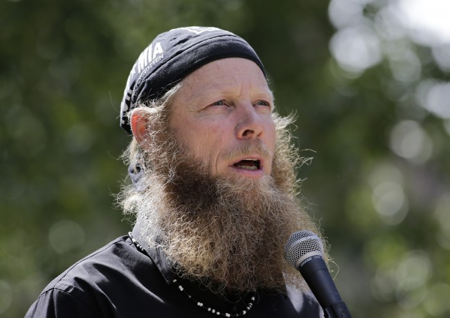 "Bob Bergdahl, father of captive U.S. Army Sgt. Bowe Bergdahl, speaks at the ""Bring Bowe Back"" celebration held to honor Sgt. Bergdahl in Hailey, Idaho, Saturday, June 22, 2013. Hundreds of activists for missing service members gathered in a small Idaho town Saturday to hear the parents of the only known U.S. prisoner of war speak just days after his Taliban captors announced they want to exchange him for prisoners being held at Guantanamo Bay. (AP Photo/Jae C. Hong)"