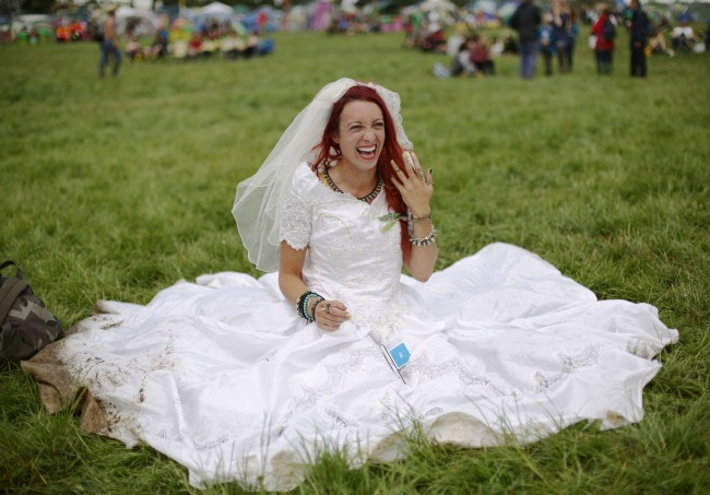 Festival goer and newly-wed Hannah Lomas, aged 27, from Liverpool