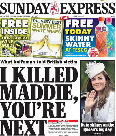 Screen shot 2014 06 14 at 22.18.44 Madeleine McCann   Sunday Express: I Killed Maddie, Youre Next