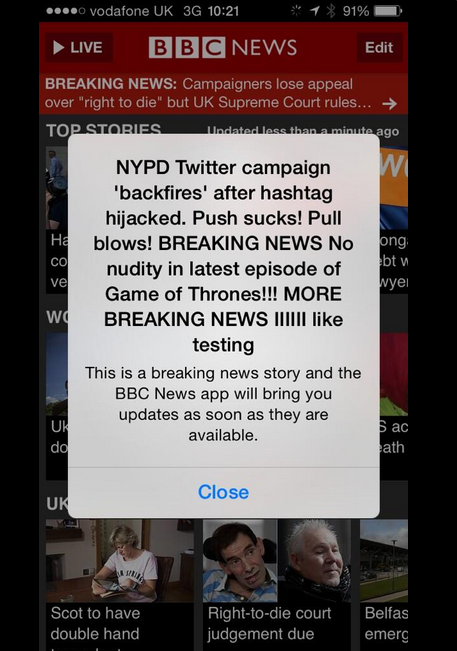 Screen shot 2014 06 25 at 12.06.20 BBC Intern Spends Last Day In Job By Cracking Breaking News Joke
