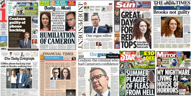 Screen shot 2014 06 25 at 12.17.34 Hacking: Rebekah Brooks And Andy Coulson   The Front Pages
