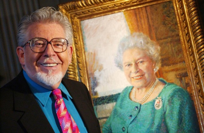 PA 20269630 Rolf Harris: The Nude Boy Photo And His Mona Lisa Smile