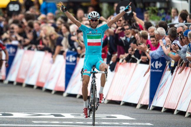 Vincenzo Nibali wins Stage 2 of the Tour De France in Sheffield, Yorkshire.